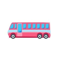 Pink public bus toy cute car icon vector