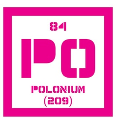 Polonium chemical element vector image