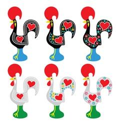 Portuguese Rooster of Barcelos - Galo de Barcelos vector image