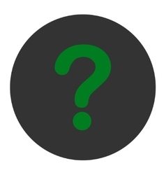 Question flat green and gray colors round button vector