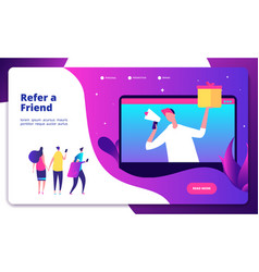 Referral concept refer friend recommend friends vector