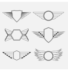 Retro Vintage Logotypes with wings vector image