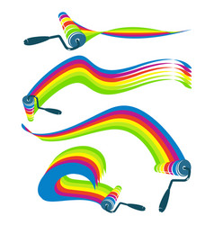 Roller with paint set vector