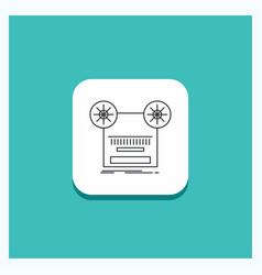 round button for record recording retro tape vector image