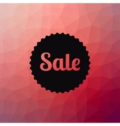 Sale poster Discounts banner template Polygonal vector