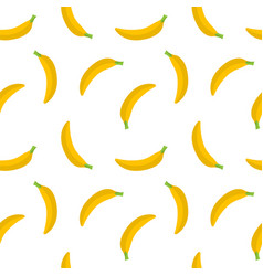 seamless pattern yellow bananas on a white vector image