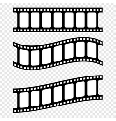 set realistic filmstrips on blank background vector image