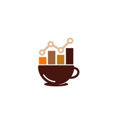 stats coffee logo icon design vector image