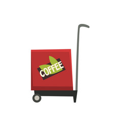 street food coffee trailer on vector image