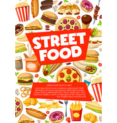 street food fastfood snacks and meals vector image