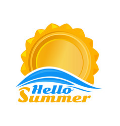 sun logo icon hello summer vector image