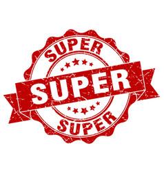 super stamp sign seal vector image