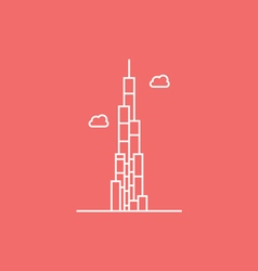 The Burj Khalifa vector