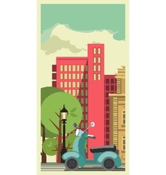 transportation in city vector image