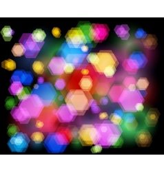 Unfocused night light - highway sparkles vector