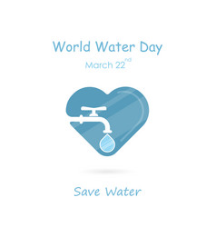 water drop and water tap icon with heart shape vector image