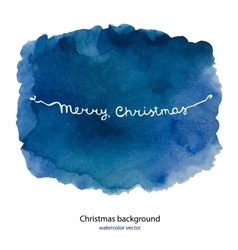 Watercolor background for merry Christmas and hand vector