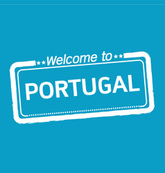 Welcome to portugal design vector