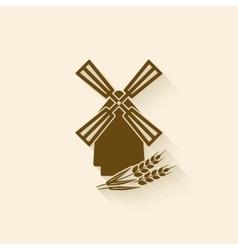 windmill baking symbol vector image