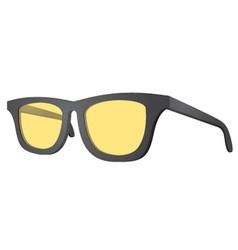 Yellow glasses vector image