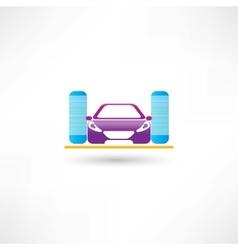 Car refueling vector image vector image