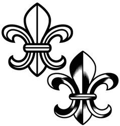 fleur de lys symbol vector image