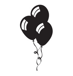 isolated group of balloons vector image