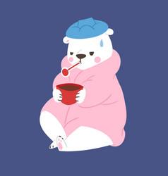 polar white bear animal cute beauty vector image