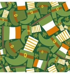 Saint Patricks day green seamless pattern vector image