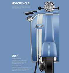 vintage motorcycle isolated vector image