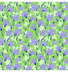 Beautiful wild bluebell flowers seamless pattern 3 vector