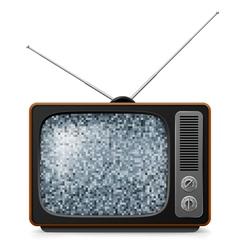Broken Retro TV vector image vector image