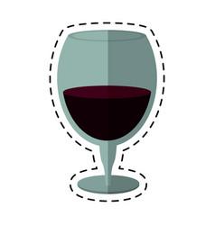 cartoon drinking glass wine icon vector image vector image