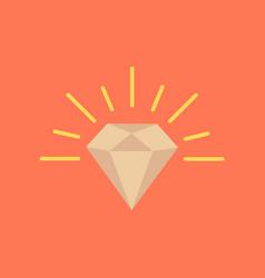 Flat icon on background poker diamond symbol vector