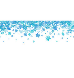 seamless border snowflakes isolated on white vector image