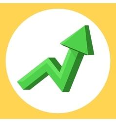 Green upward trend vector image