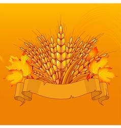 Harvest background vector image vector image