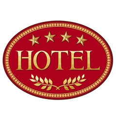 hotel label design vector image vector image