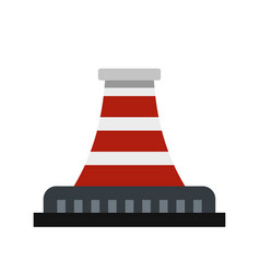 Refinery with pipe icon flat style vector