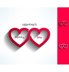 Set of valentines infinite love signs made vector image