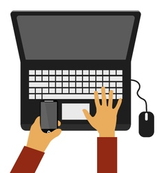 write to your computer vector image