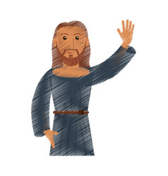 drawing jesus christ design vector image vector image