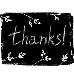 Hand drawn Thank You card vector image vector image