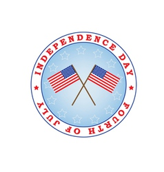 Independence Day sign vector image