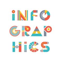 Infographics Word Logo vector image vector image