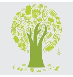 Money Tree Icons vector image vector image
