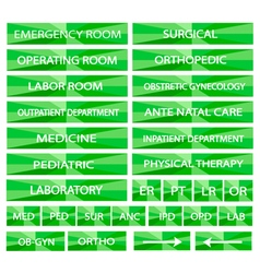 Set of Hospital Sign and Medical Abbreviations vector image