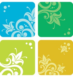 set of summer backgrounds vector image vector image