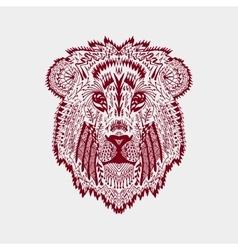 Zentangle stylized lion head vector image vector image