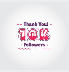 10000 thank you followers for media social design vector